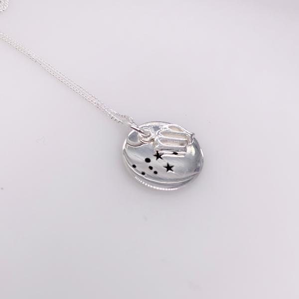 Sterling Silver Virgo pendant with chain