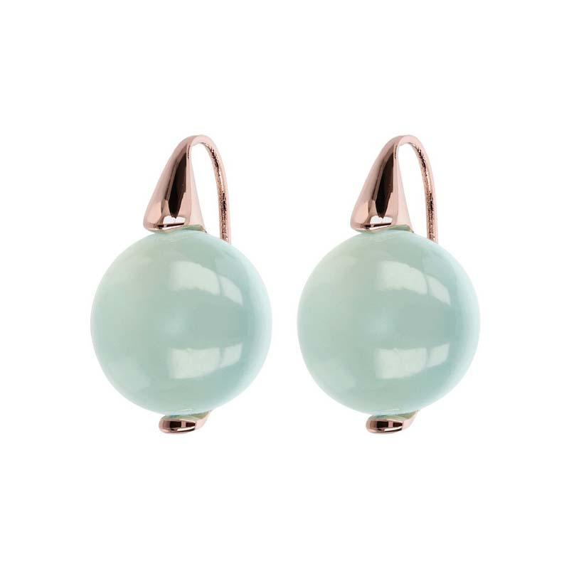 Bronzallure Alba Aqua Chalcedony Earrings