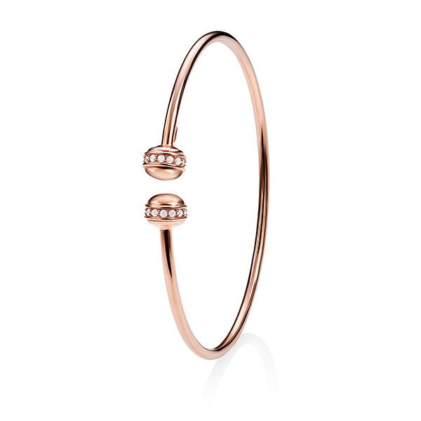 9Ct Rose Gold Cubic Zirconia Bangle