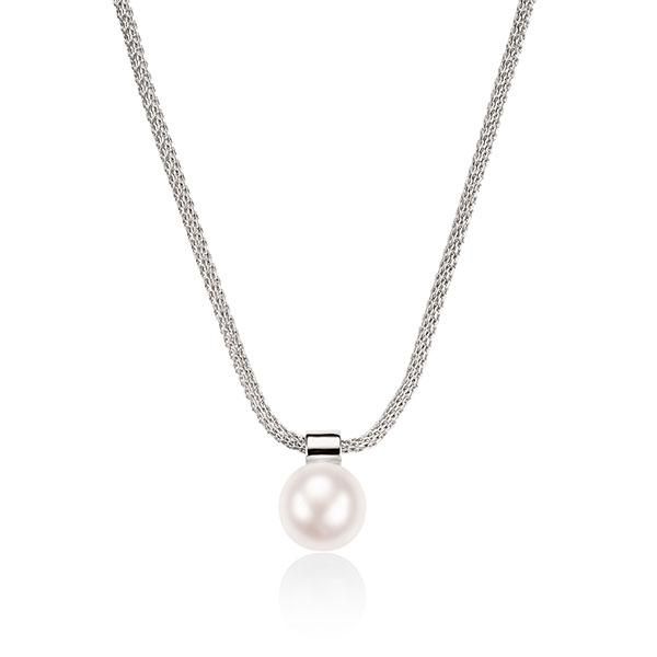 Sterling Silver Cultured Freshwater Pearl Necklet