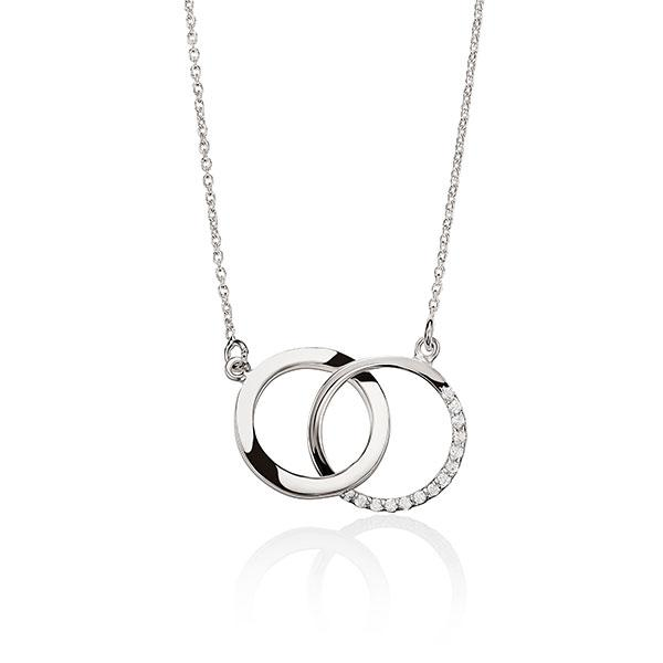 Sterling Silver Cubic Zirconia Cirlce Pendant