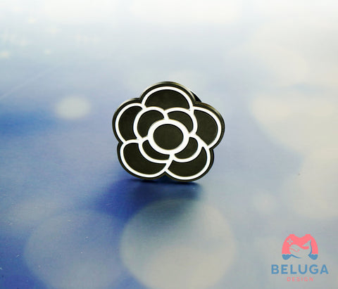 Black Flower PopSocket - Phone Holder