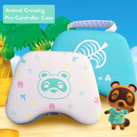 Animal Crossing Switch Pro Controller Case - White, Blue