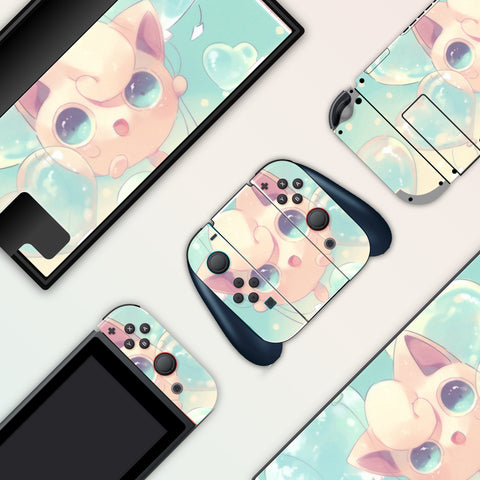 Jigglypuff Skin - Full Set Nintendo Switch Skin