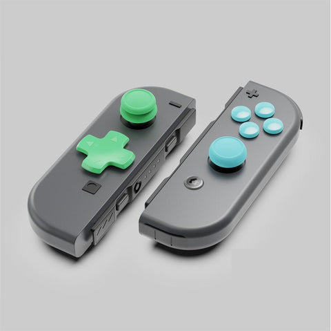 Green, Blue Button Caps - Peel and Stick Nintendo Switch