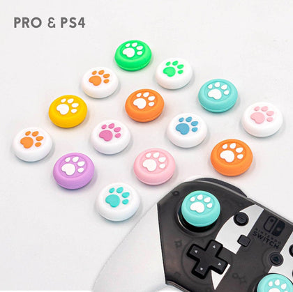 Paw Print Thumb Grip - Switch Pro Controller, PS4 Button Cap