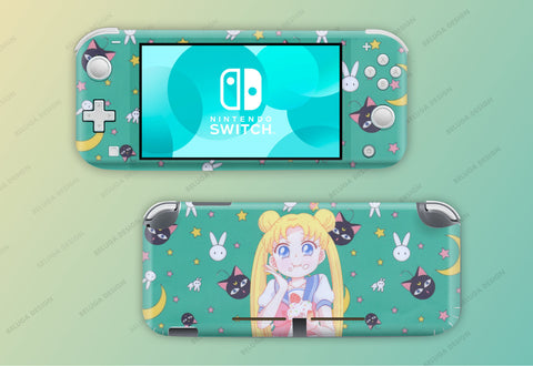 Sailor Moon Green Skin - Full Set Nintendo Switch Lite Wrap