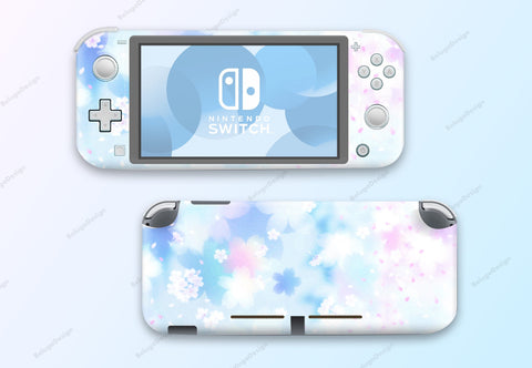 Pastel Flower Blossoms - Full Set Nintendo Switch Lite Skin