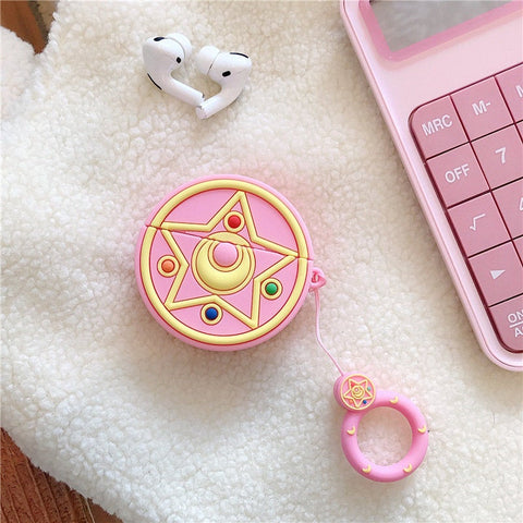 Sailor Moon Airpods Case - Pink Pastel Cute Anime
