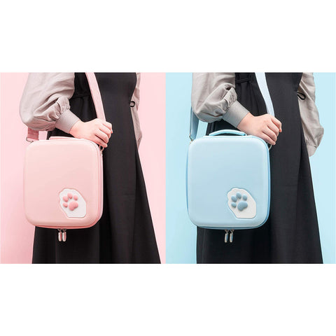 Big Paw Switch Case - Blue or Pink Carrying Case