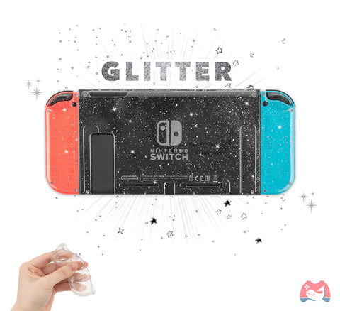 GLITTER Clear Switch Case - Crystal Nintendo Switch Shell