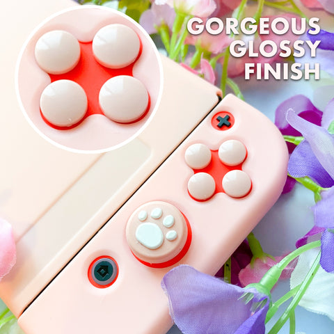 Pastel Button Caps and D-Pad - Nintendo Switch