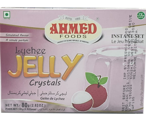 Ahmed Foods Lychee Jelly Crystals 80g