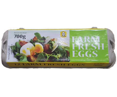 Farm Fresh Eggs 700g 12pcs
