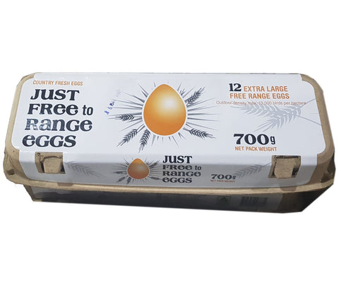 Just Free To Range Eggs 700g (Extra Large) 12pcs