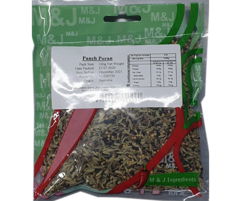 M&J Panch Phoran 100g