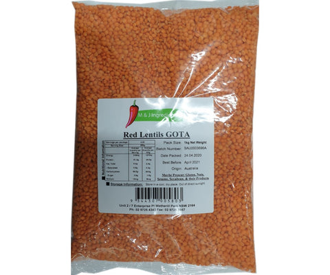M&J Gota Mashoor Dal (Whole Red Lentil) 1Kg
