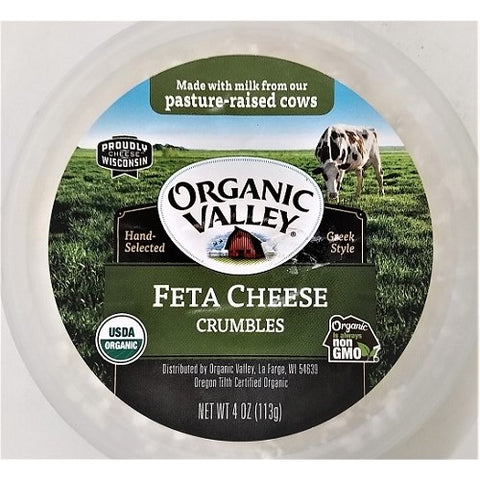 Feta Cheese Crumbles, Organic Valley