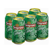 Ginger Ale, Seagrams, cans