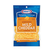 Cheese, Mild Cheddar, Shredded, Kraft
