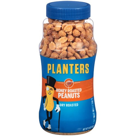 Honey Roasted Peanuts, Planters