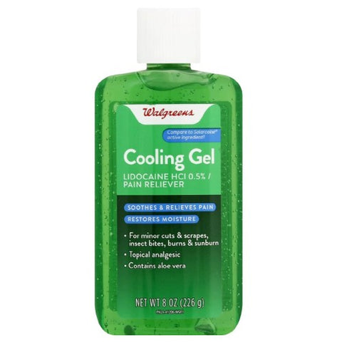 Aloe Cooling Gel, Lidocaine, Walgreens