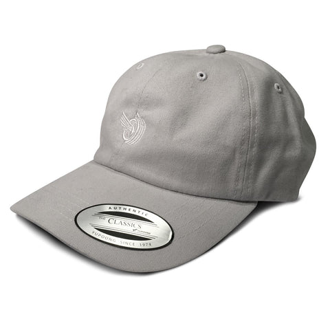 (16) Flying Tire Dad Hat Light Grey