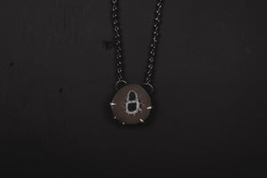 Septarian Nodule Pendant Necklace