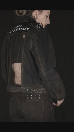 Crystal and Metal Spiked Jacket