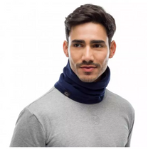 Load image into Gallery viewer, Polar Neckwarmer Buff Solid Night Blue