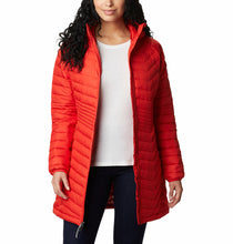 Load image into Gallery viewer, Columbia Women's Powder Lite Omni-Heat Mid Hooded Jkt