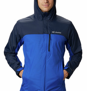 Columbia Men's Pouring Adventure Waterproof Rain Jacket