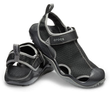 Load image into Gallery viewer, Crocs Men's Swiftwater™ Mesh Deck Sandals
