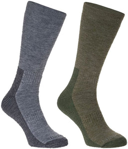 Silverpoint Men's All Terrain Merino Wool Hiker Socks (2-pair pack)