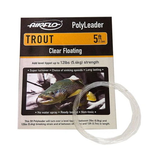 5ft Airflo Trout Polyleader Clear Floating