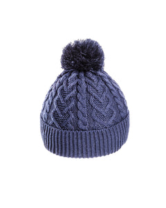 Kids Bobble Hat -Heart Pattern