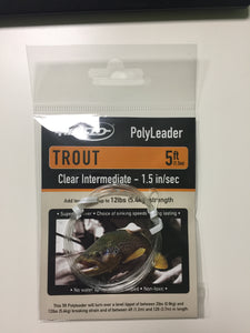 5ft Airflo Trout Polyleader Clear Intermediate