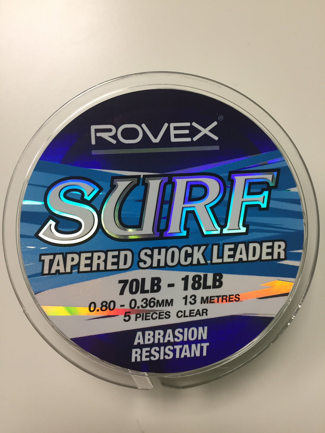 70lb-18lb Rovex Surf Tapered Shock Leader Clear