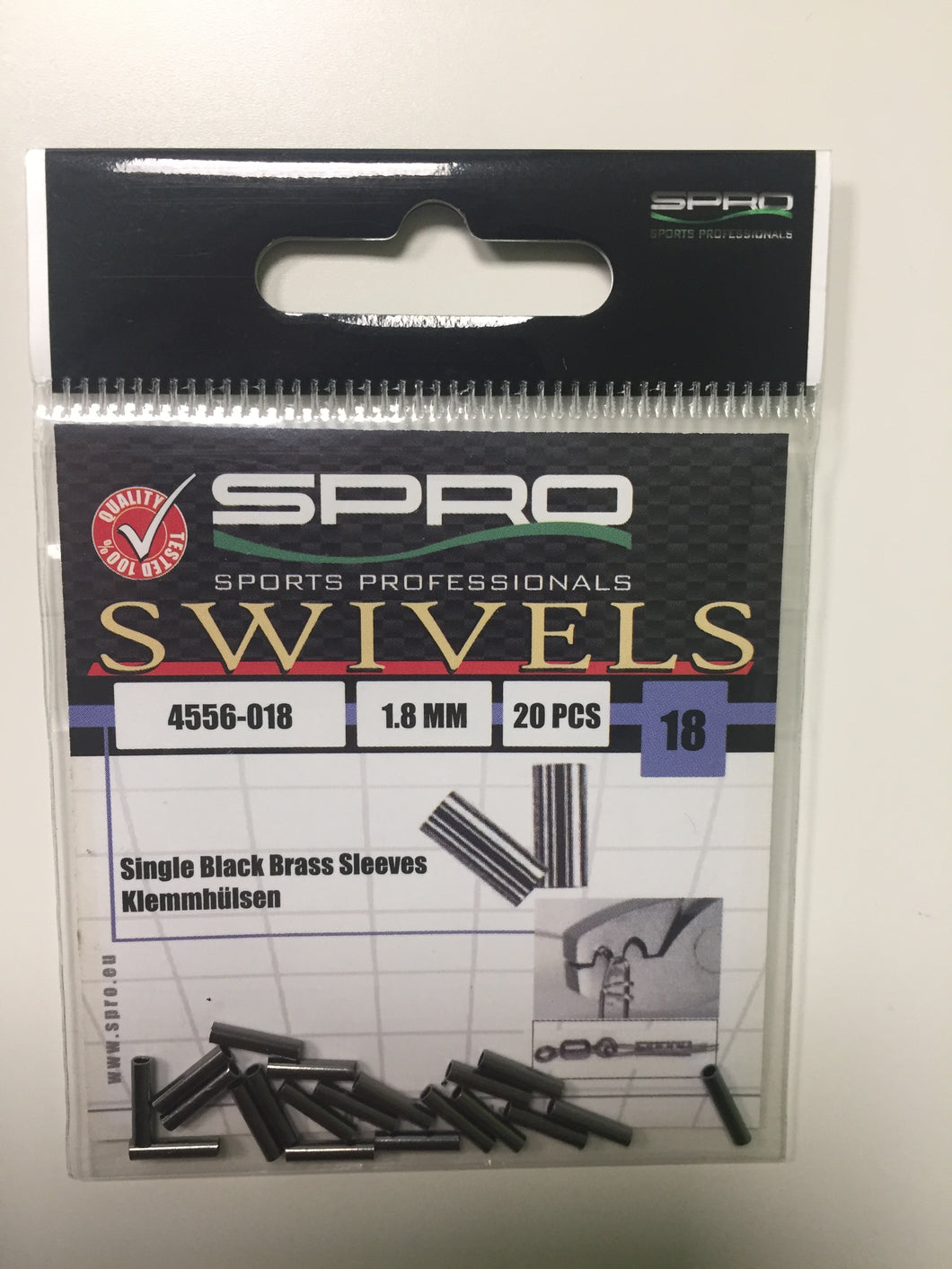 Spro Single Crimps Size 1.8mm (20 Pack)