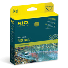 Load image into Gallery viewer, Rio Gold Trout Series WF5F Moss/Gold 27m Fly Line
