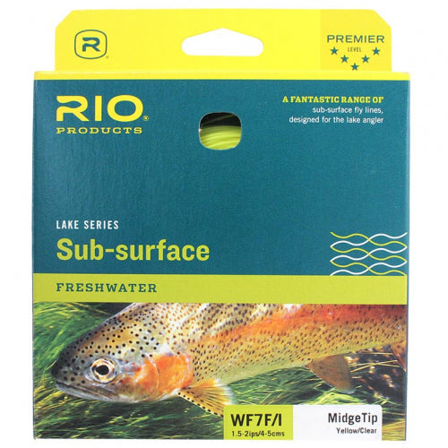 Rio Lake Series Sub-surface Freshwater Midge Tip Yellow/Clear WF7 F/I Fly Line