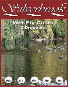 Silverbrook 8lb Wet Fly Casts ( 2 Droppers)