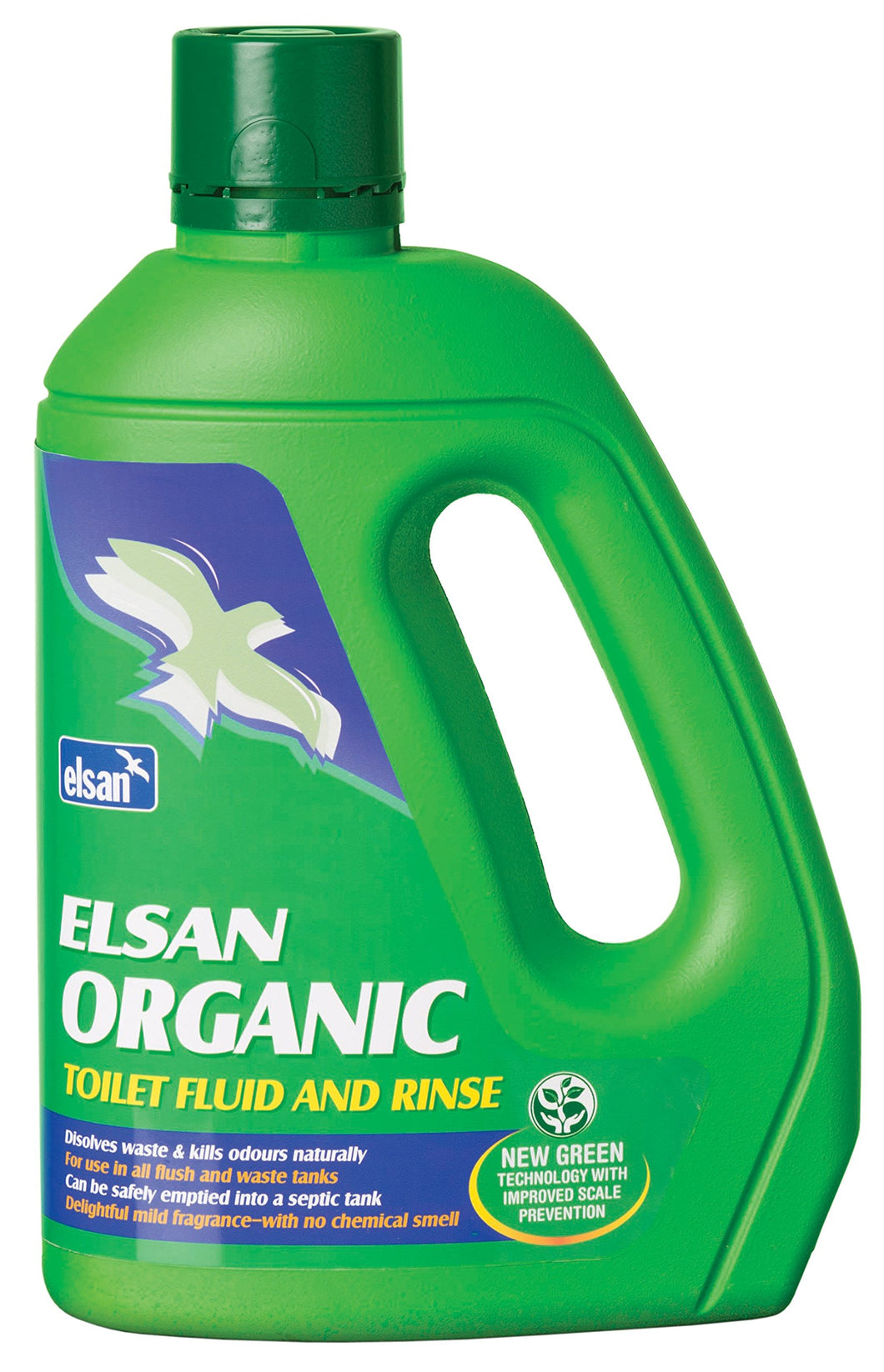 Elsan 2 Litre Green Organic Toilet Fluid and Rinse