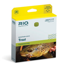Load image into Gallery viewer, Rio Mainstream Trout WF6F Lemon Green 24m Fly Line