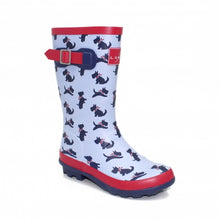 Load image into Gallery viewer, Lunar Scottie Junior Short Rubber Ankle Wellies
