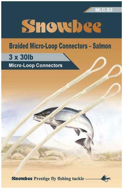 Snowbee Salmon Braided Loops Clear (3 per pack)