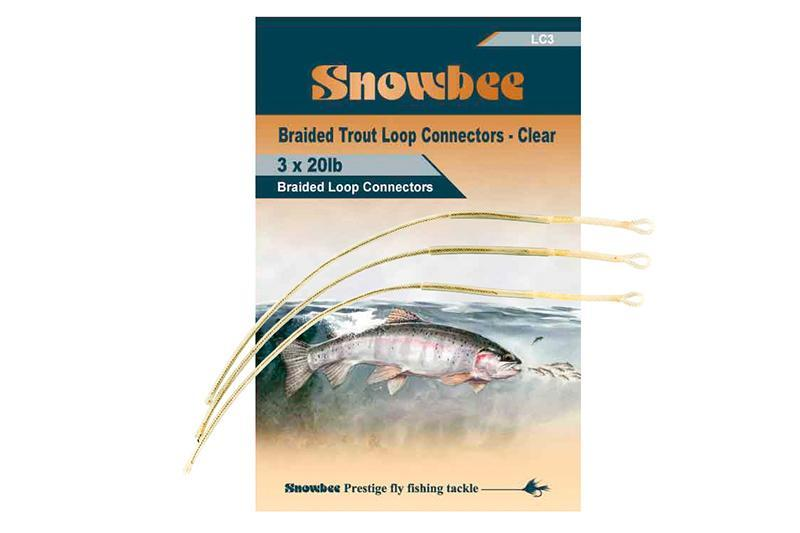 Snowbee Braided Trout Loops Clear (3 per pack)