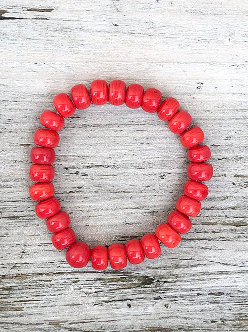 Nailo Opaque Recycled Glass Bead Bracelet