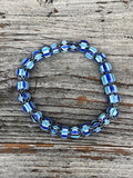 Nailo Pattern Recycled Glass Bead Bracelet