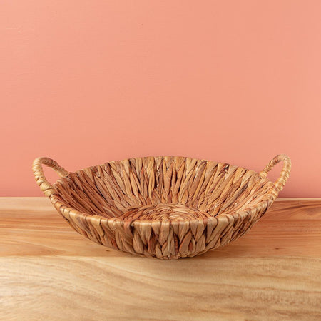 Tall Seagrass Basket with Handles Large